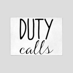 duty calls 5'x7'Area Rug