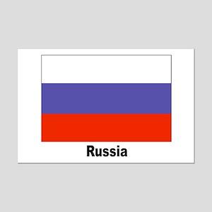Russia Russian Flag Mini Poster Print