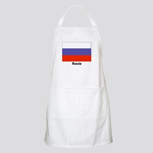 Russia Russian Flag BBQ Apron