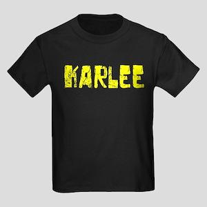 Karlee Faded (Gold) Kids Dark T-Shirt