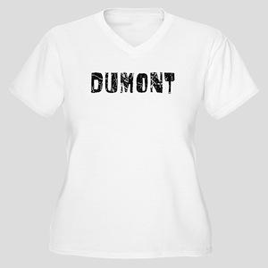 Dumont Faded (Black) Women's Plus Size V-Neck T-Sh