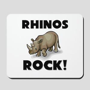 Rhinos Rock! Mousepad