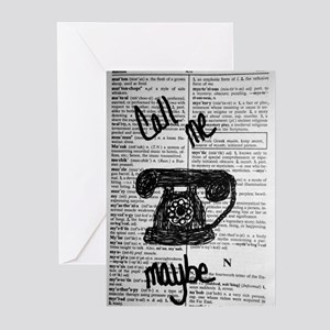 Call Me Maybe Greeting Cards