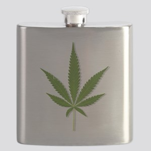 marijuana leaf Flask