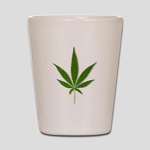 marijuana leaf Shot Glass