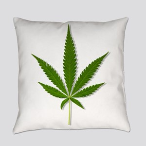 marijuana leaf Everyday Pillow