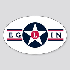 Eglin Air Force Base Oval Sticker