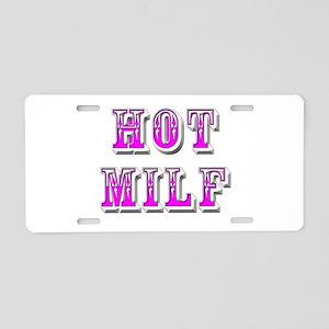 hot milf Aluminum License Plate