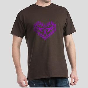Cancer Awareness Ribbon Dark T-Shirt