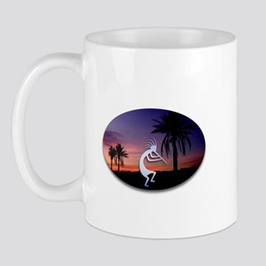 Kokopelli Sunset Oval Mug