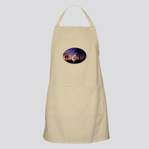 Kokopelli Sunset Oval BBQ Apron