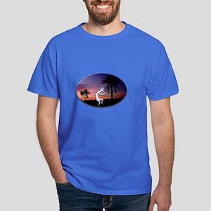 Kokopelli Sunset Oval Dark T-Shirt
