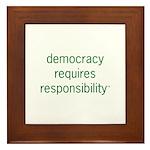 Democracy+Resp Framed Tile