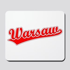 Retro Warsaw (Red) Mousepad