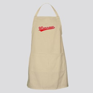 Retro Warsaw (Red) BBQ Apron