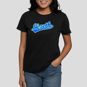 Retro Lizeth (Blue) Women's Dark T-Shirt