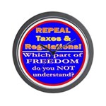 Repeal Taxes#2c Wall Clock