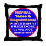 Repeal Taxes#2c Throw Pillow
