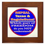 Repeal Taxes#2c Framed Tile