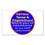 Repeal Taxes#2c Rectangle Sticker 10 pk)