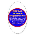 Repeal Taxes#2c Oval Sticker (50 pk)