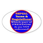 Repeal Taxes#2c Oval Sticker