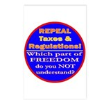 Repeal Taxes#2c Postcards (Package of 8)