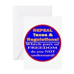 Repeal Taxes#2c Greeting Card