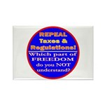 Repeal Taxes#2c Rectangle Magnet (100 pack)