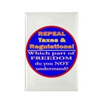 Repeal Taxes#2c Rectangle Magnet (10 pack)