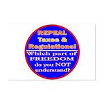 Repeal Taxes#2c Mini Poster Print