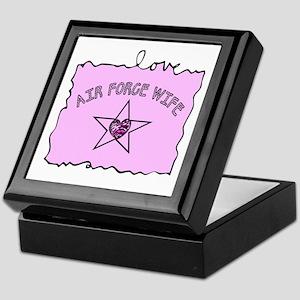 Air Force Wife Keepsake Box