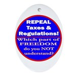Repeal Taxes #3c Oval Ornament