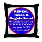 Repeal Taxes #3c Throw Pillow