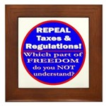 Repeal Taxes #3c Framed Tile