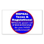Repeal Taxes #3c Rectangle Sticker 10 pk)