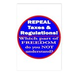 Repeal Taxes #3c Postcards (Package of 8)