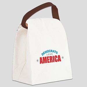 Democrats Love America Canvas Lunch Bag