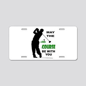 GOLFER Aluminum License Plate