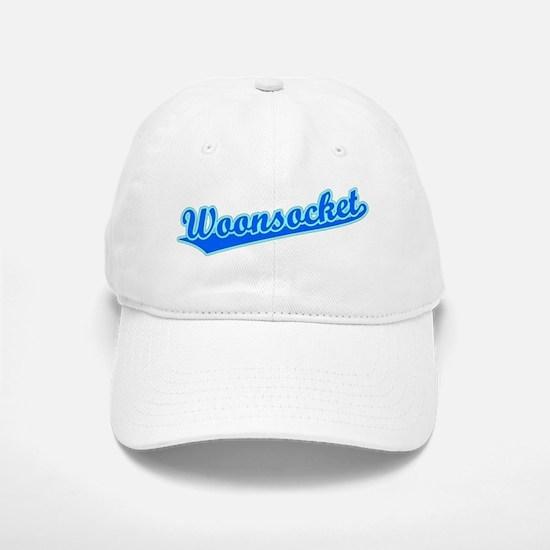 Retro Woonsocket (Blue) Baseball Baseball Cap