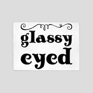 glassy eyed 5'x7'Area Rug