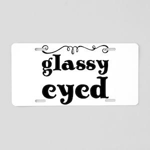 glassy eyed Aluminum License Plate