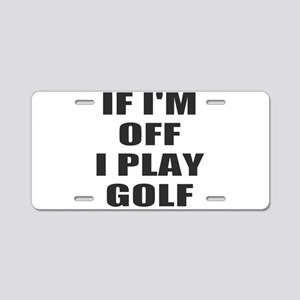 Golf time Aluminum License Plate