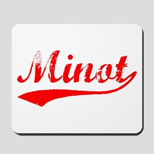 Vintage Minot (Red) Mousepad