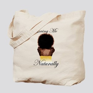 Loving Me Naturally Natural Afro Hug Tote Bag