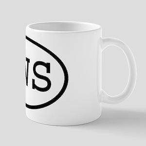 PWS Oval Mug