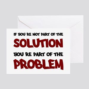 Part of the Solution Greeting Card