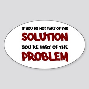 Part of the Solution Oval Sticker