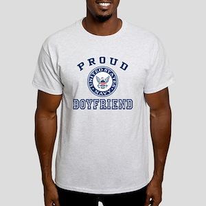 Proud US Navy Boyfriend Light T-Shirt