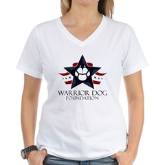 Tri Logo Women's V-Neck T-Shirt